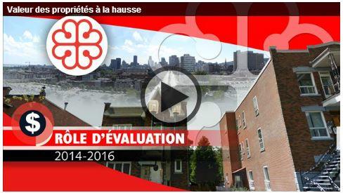 Montréal – valeur des propriétés à la hausse.